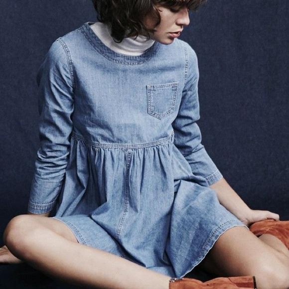 BDG Blue Jean babydoll mini dress